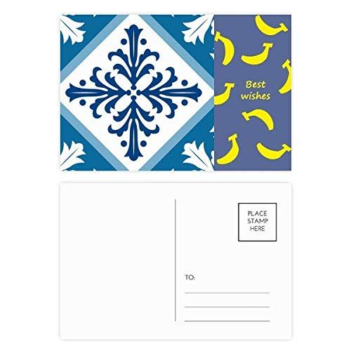 Talavera Deko-Blumen-Ilustration, Bananen-Postkarten-Set, Danksagungskarte, Postkarte, Seite, 20 Stück