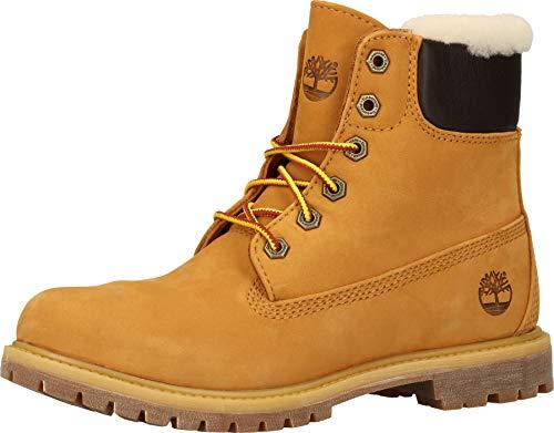 Timberland - Premium Damen-Stiefel, 6 Zoll, mit Wolle gefüttert, Braun - Waterbuck Wheat - Größe: 36 EU