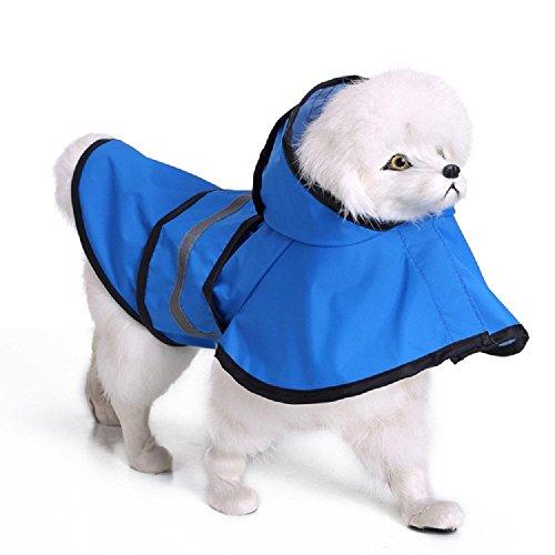HEISHOP Hunderegenmantel große Hundereflex Hundebekleidung Plane, blau, XL