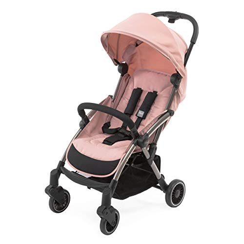 Chicco Cheerio Baby Kinderwagen, Leichter und kompakter Buggy von 0 Monaten-15 kg, Faltbar und Verstellbar mit Schlafposition, Automatisches Schließen in nur 1 Bewegung, Sonnenverdeck und Regenschutz