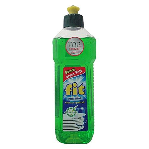 fit Spülmittel 3er Pack (3 x 500 ml) Geschirrreiniger Reinigunsmittel Geschirrspülmittel