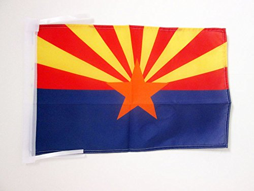 AZ FLAG Flagge Arizona 45x30cm mit Kordel - Bundesstaat Arizona Fahne 30 x 45 cm - flaggen Top Qualität