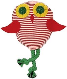 Kathe Kruse - Shaking Owl Rattle, Red/White