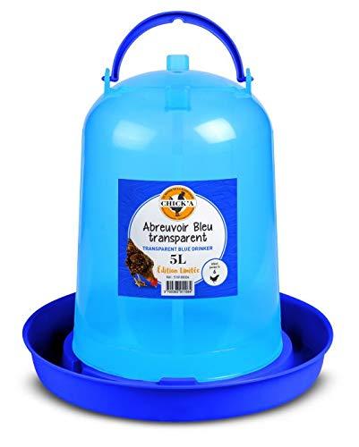 horizont CHICK\'A Hühnertränke 5 Liter, Vogeltränke für den Hühnerstall, Wasserspender aus Kunststoff, Garten Zubehör für Huhn, Wachtel, Küken, Vogel, Futterspender