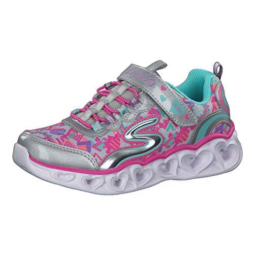Skechers Heart Lights Mädchen-Sportschuhe, - Silberfarben - Größe: 47 EU