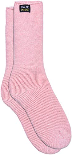 Womens Polar Extreme Moisture Wicking Insulated Thermal Socks in 13 Great Styles (Soft Pink)