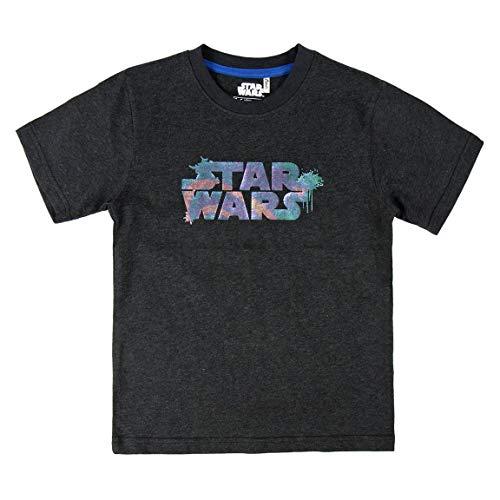 Cerdá Camiseta Manga Corta Premium Star Wars, Negro (Negro C0, 4 para Niños
