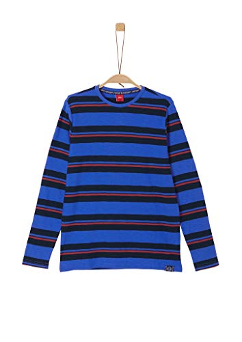 s.Oliver Jungen Streifenshirt aus Flammgarn-Jersey Blue Stripes L.REG