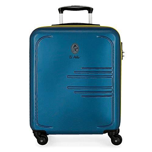 El Potro Batran Maleta de cabina Azul 39x55x20 cms Rígida ABS Cierre combinación 37L 2,7Kgs 4 Ruedas Equipaje de Mano