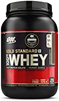 Optimum Nutrition (ON) Gold Standard 100% Whey Protein Powder - 2 lbs, 907 g (Double Rich Chocolate), Primary Source Isolate