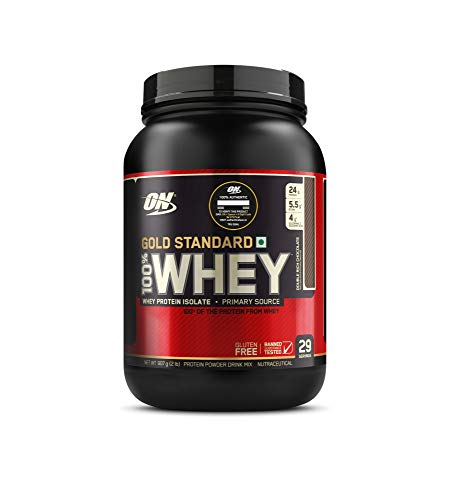 Optimum Nutrition (ON) Gold Standard 100% Whey Protein Powder - 2 lbs, 907 g (Double Rich...