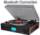 Boytone BT-11B Fully Automatic Large Size Turntable, Bluetooth Wireless, 2 Built...