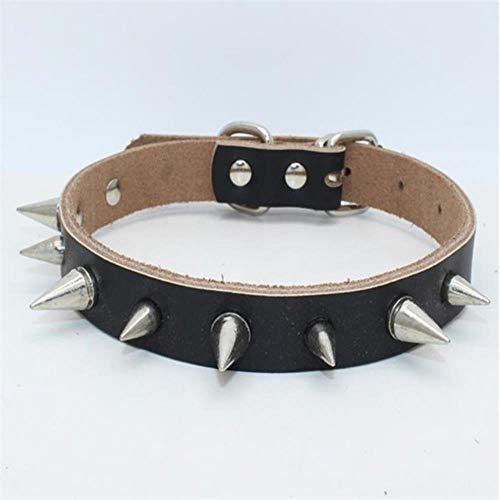 fafagogo2216gogo Collar De Perro Piel De Vaca Pura Collares Para Perros Pequeños Remache Con Pinchos Suministros Personalizados Para Collar De Gato Collar Mascotas Accesorios Para Productos Cachorro H