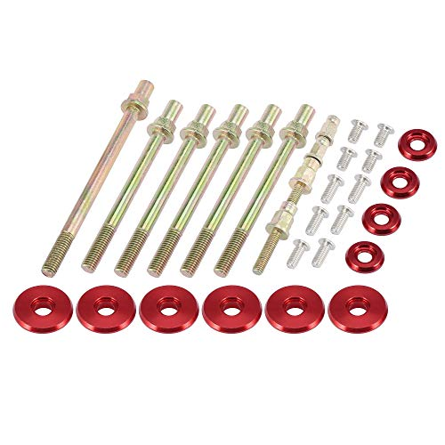 X AUTOHAUX Low Profile Engine Valve Cover Washer Bolt Kit Red for Acura for Honda K-Series Engines K20 K24