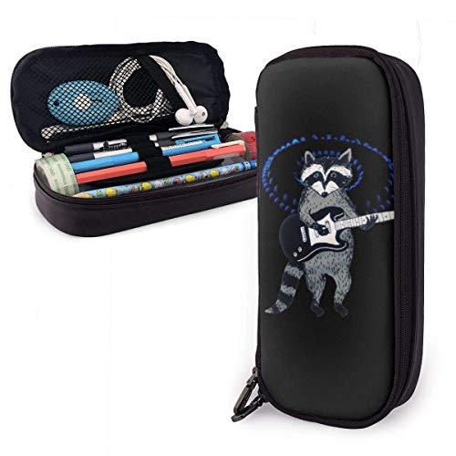 Propan Herd Gas Feuer Blau PU Leder Federmäppchen, große Kapazität Stifttasche, langlebige Studenten Briefpapier Organisatoren 1,5 Zoll x 3,5 x 8 Zoll