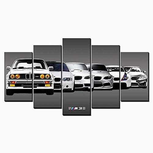 Karen Max GTR M3 Car Wandkunst Leinwand Giclée-Druck Ölgemälde Bilder Sportwagen Landschaft Home Decor Poster Artwork