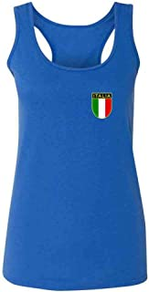 Italy Soccer Retro National Team Fashion Tank Top Tee for Women