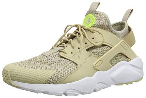 Nike Men's Air Huarache Run Ultra SE Shoe - 875841 (7 D(M) US, String/Desert Ore-White-Volt)