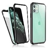 Bigmeda iPhone 11 Hülle 360 Grad, iPhone 11 Magnet Vollbildabdeckung Gehärtetes Glas Handyhülle...