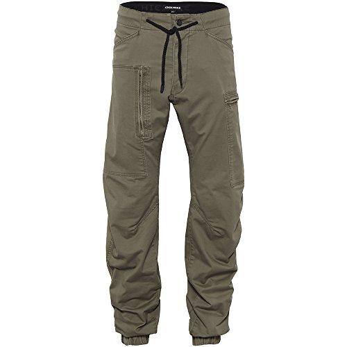 Chiemsee Uomo Chino Pantaloni, in Stile Jogger Pantaloni Abbigliamento/, Uomo, Chinohose, im Jogger-Style, 150 Slate Green, XS