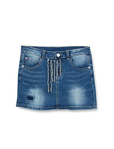 MEK Minigonna Jeans Falda para Niñas