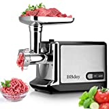 Electric Meat Grinder Powerful Electric Food Meat Grinder, Heavy Duty Multifunction Meat Mincer Sausage Stuffer with Sausage Tube