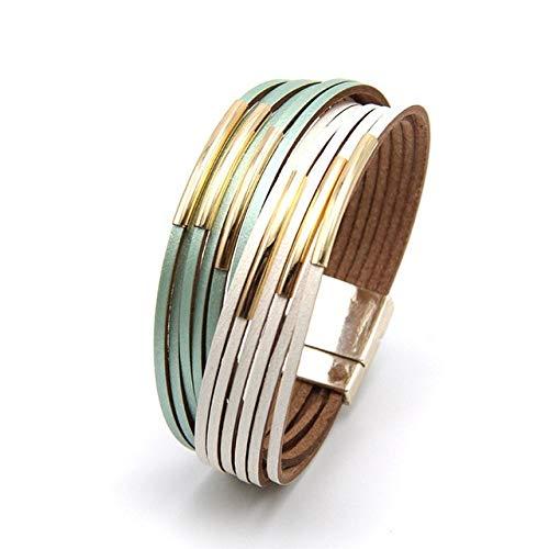 QFJCNZ Armband Armbänder Für Frauen Mode Damen Dünne Streifen Breite Wickelarmband Weiblichen Schmuck Geschenk