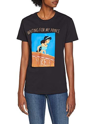 New Look Jasmine My Prince 6096878 T-Shirt, Nero (Black 1), 48 (Taglia Produttore: 53) Donna