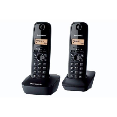 Panasonic KX-TG1612FRH - Teléfono Fijo Digital (contestador, contestador, Pantalla LCD), Negro (Importado) [versión importada]