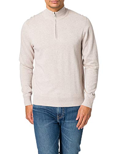 Hackett London Cotton Silk HZIP Jersey, 9kddove Grey, XS para Hombre