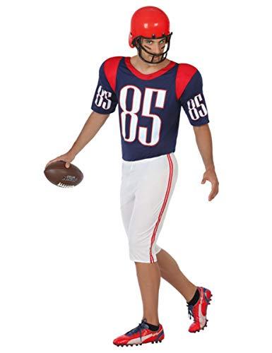 Atosa 31555–Jugador de Rugby, disfraz para hombre, tamaño XS, S, 46/48