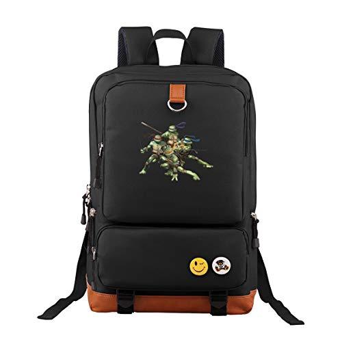 Ninja Turtle Oxford Rucksack Schulrucksack Laptoprucksack Für Herren Damen Jungen MädchenWanderrucksack