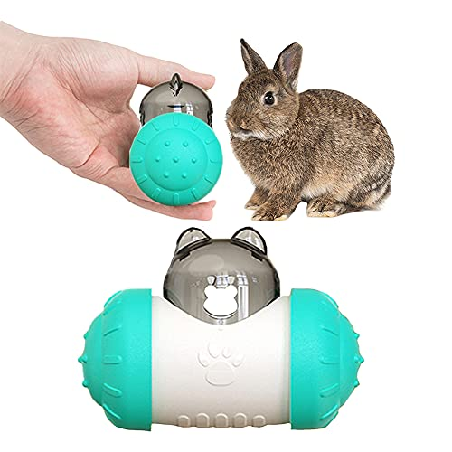 Interactive Treat Ball for Rabbits, Roll and Push, Use with Diced Carrot, Dried Herbs or Dried Fruit, Snack Toy Ball for Rabbits, Guinea Pigs, Chinchillas, Hamsters, Gerbils, Rat Ect
