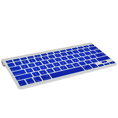 TOP CASE Silicone Cover Skin Compatible with Apple Wireless Keyboard with TOP CASE Mouse Pad (Apple Wireless Keyboard, Royal Blue)