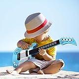 DAUERHAFT Esquinas Redondas Instrumento Musical con Sonido Envolvente ABS Guitarra para niños, Decoración de Fiesta(Blue)