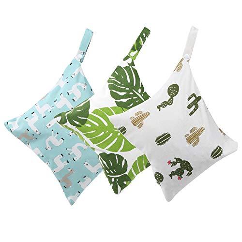 Bolsas para pañales de tela Bolsas portátiles reutilizables para mojado y seco Bolsas para pañales, Bolsas de viaje lavables para pañales de tela para bebés(Bolsas de pañales de tela)