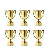 Toyvian 12pcs Cup Trophy Trofeos de plástico para niños Concursos Premios Fiestas Favores de Accesorios Premios Premios Juegos Escolares Niños y Niñas (Oro)
