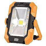 Luz de Trabajo Portátil Led Recargable de Solar y USB,con Batería y Giro de 360°, 1000 ...