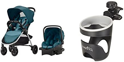 Evenflo Folio Travel System, Meridian with Universal Cup Holder