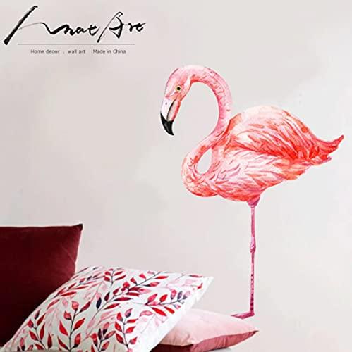 Pegatinas De Pared Nórdicas Modernas Flamingo Pink Room Accesorios De Decoración Del Hogar Pegatina De Acuarela De Pájaro