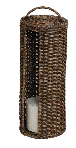 korb.outlet WC-Rollenhalter/Ersatzrollenhalter aus Rattan (Braun gewaschen) DE