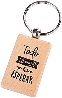 """Lote de 20 Llaveros Bautizo de Madera con Frases""""TODO LO BUENO"""" - Llaveros con Frases Originales y Baratos para Bodas, Bau..."""