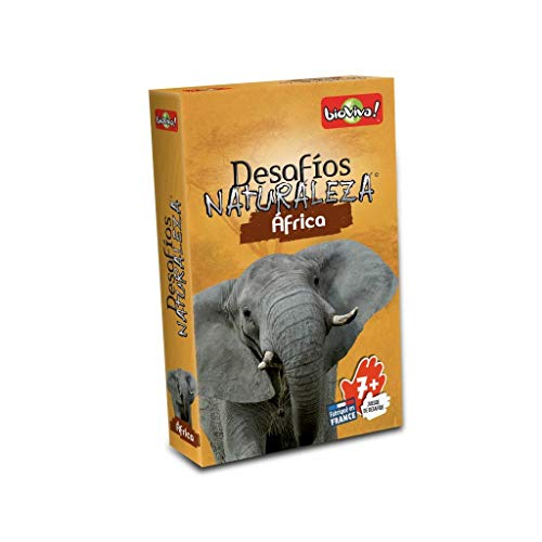 Bioviva - Asmodee DES07ES - Gioco di carte Sfide Natura Africa