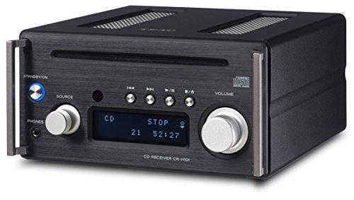 Teac CR-H101DAB(B) Mikro CD/DAB+ Receiver mit CD Player, DAB/UKW Radio, Bluetooth, USB, Streaming, HighRes Audio, DA Wandler, Subwoofer-Ausgang, Gehäuse aus gedrehten Aluminiumplatten, Schwarz