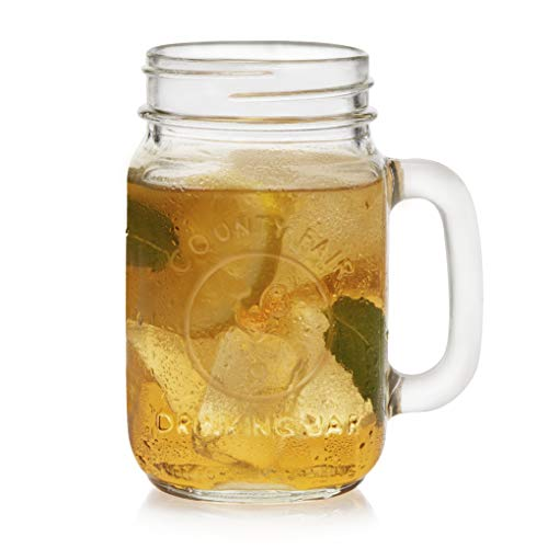 Libbey County Fair Drinking Jar Glasses