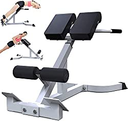 💪【275lbs Maximum Weight Capacity】This weight bench supports 275 pounds load capacity. It is built with heavy-duty commercial quality steel, which is very sturdy and durable. It helps strengthen your lower back, spine and abdominal muscles, as well as...