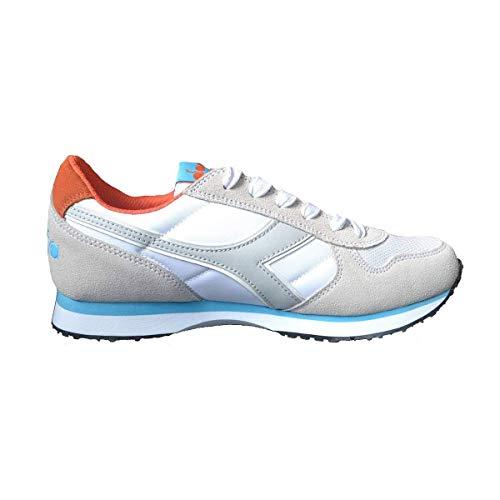 Diadora Scarpe Sneaker Uomo/Donna Modello K Run II Vari Colori (White Cyan/Blue Fluo - 37)