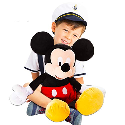 Disney Mickey Mouse Toys Bundle Giant Mickey Mouse Plush Doll 26' - Mickey Mouse Decorations Set Mickey Plush Toy with Stickers (Mickey Mouse Room Decor)