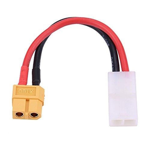 Cable RC,Jadpes Cable Conector RC,Adaptador de Conector, XT60 Hembra a Grande Tamiya Hembra Adaptador de Conector 14AGW Cable de Silicona RC Accesorio para XT60, EC3, EC