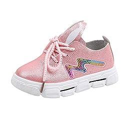 Cartoon Sequins Rabbit Flat Sneaker Shoe In Pink